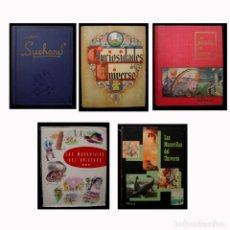 Coleccionismo Álbum: LOTE 5 ÁLBUNES-1530 CROMOS-MARAVILLAS DEL UNIVERSO CHOCOLATE NESTLÉ-SUCHARD-1932-1933-1955-1957-1958. Lote 179541881