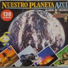 Coleccionismo Álbum: ÁLBUM COMPLETO DE 138 CROMOS NUESTRO PLANETA AZUL. CIENCIAS NATURALES. MULTILIBRO. 150 GR. Lote 180129451