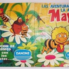 Coleccionismo Álbum: DANONE - LAS AVENTURAS DE LA ABEJA MAYA - ALBUM COMPLETO. Lote 180173615