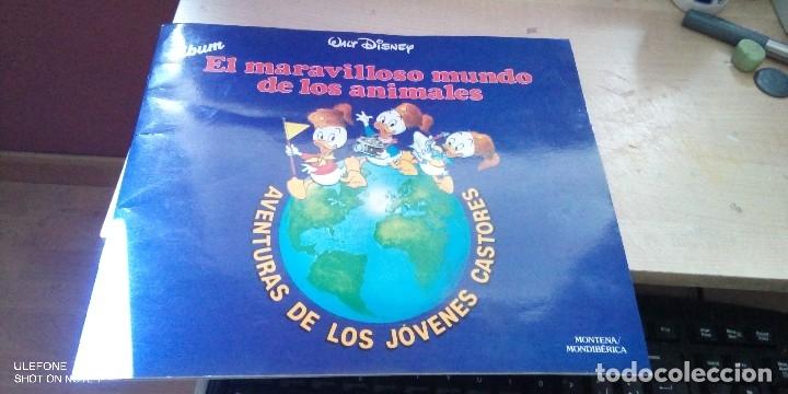 ALBUM EL MARAVILLOSO MUNDO DE LOS ANIMALES - AVENTURA DE LOS JÓVENES CASTORES 1986 (Coleccionismo - Cromos y Álbumes - Álbumes Completos)
