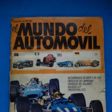 Coleccionismo Álbum: GRAN ÁLBUM EL MUNDO DEL AUTOMÓVIL. EDITORIAL BRUGUERA. 1970. COMPLETO.. Lote 181499945