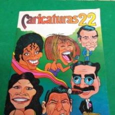 Coleccionismo Álbum: ALBUM COMPLETO CARICATURAS 22. Lote 182051568