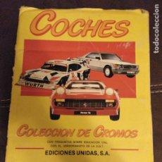 Coleccionismo Álbum: ALBUM COCHES 1986.MOTOR 16 Y EDICIONES UNIDAS S.A. COMPLETO. Lote 182746816