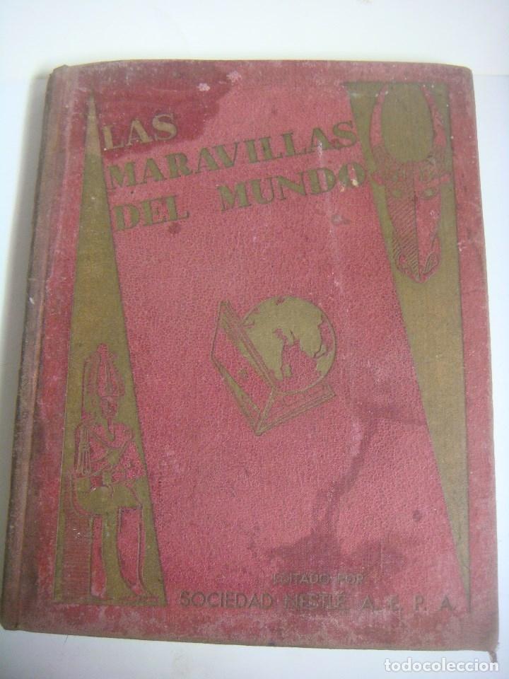 ALBUN DE CROMOS LAAS MARAVILLAS DEL MUNDO EDITADO POR NESTLE COMPLETO (Coleccionismo - Cromos y Álbumes - Álbumes Completos)