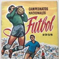 Coleccionismo Álbum: ÁLBUM CAMPEONATOS NACIONALES FUTBOL 1958 - EQUIPOS PRIMERA DIVISIÓN - RUIZ ROMERO - COMPLETO. Lote 182855271