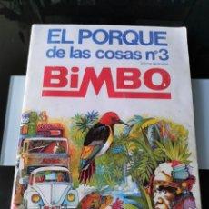 Coleccionismo Álbum: ÁLBUM CROMOS PANRICO BIMBO EL PORQUÉ DE LAS COSAS 3. Lote 182917868