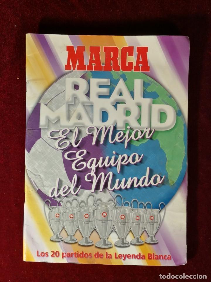 ALBUM CROMOS COMPLETO - MARCA REAL MADRID EL MEJOR EQUIPO DEL MUNDO (Coleccionismo - Cromos y Álbumes - Álbumes Completos)