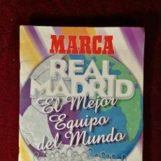 Coleccionismo Álbum: ALBUM CROMOS COMPLETO - MARCA REAL MADRID EL MEJOR EQUIPO DEL MUNDO. Lote 183241713