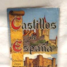 Coleccionismo Álbum: CASTILLOS DE ESPAÑA ALBUM COLECCIÓN JOYA AÑO 1957. DIBUJOS DE ENRIQUE ESTELA, COMPLETO. Lote 183323012