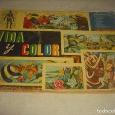 Collectionnisme Album: VIDA Y COLOR, ALBUMES ESPAÑOLES . COMPLETO A FALTA DE 2 CROMOS. VER DESCRIPCION.. Lote 183467393