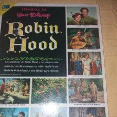 Coleccionismo Álbum: ALBUM ESTAMPAS DE WALT DISNEY ROBIN HOOD.COMPLETO.EDITORIAL NOVARO 1976. Lote 184131776
