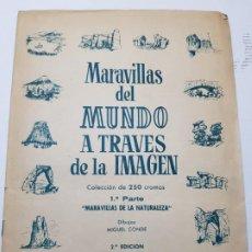 Coleccionismo Álbum: ALBUM MARAVILLAS DEL MUNDO A TRAVÉS DE LA IMAGEN BRUGUERA 1956. Lote 184829715