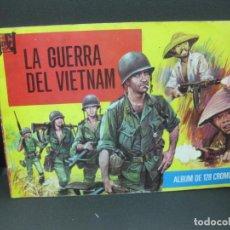 Coleccionismo Álbum: LA GUERRA DEL VIETNAM. ALBUM COMPLETO CON 128 CROMOS - FOTOGRAFIAS.. Lote 185789956