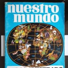 Coleccionismo Álbum: ÁLBUM CROMOS PANRICO BIMBO NUESTRO MUNDO 1 ATLAS ILUSTRADO. Lote 189154205