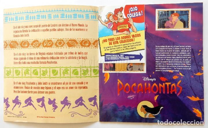 Coleccionismo Álbum: ÁLBUM DE CROMOS PANINI POCAHONTAS PELÍCULA DE WALT DISNEY. COMPLETO AÑOS 90 - Foto 2 - 189761988