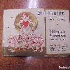 Collectionnisme Album: ÁLBUM BLANCA NIEVES BLANCANIEVES Y LOS SIETE 7 ENANOS ENANITOS COMPLETO. WALT DISNEY. FHER AÑOS 40.. Lote 190451807