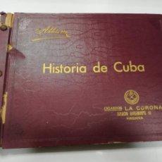 Coleccionismo Álbum: ALBUM COMPLETO. HISTORIA DE CUBA. CIGARROS LA CORONA. HABANA, ENERO DE 1935. BUEN ESTADO.. Lote 191061336