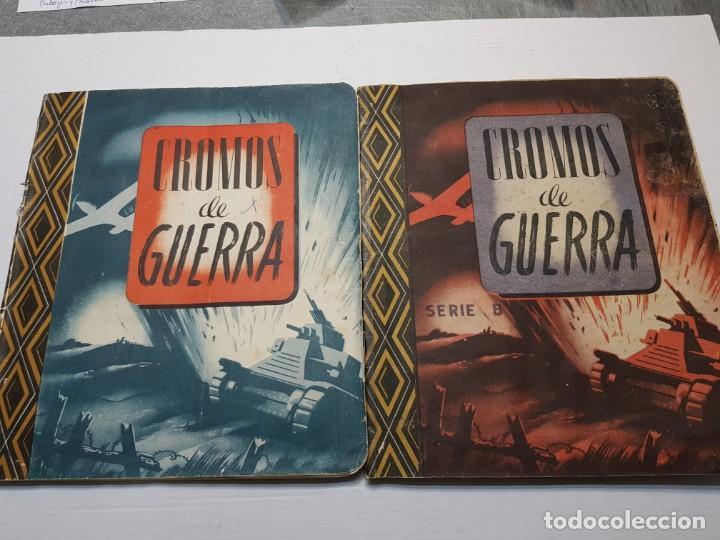 ALBUMES COMPLETO CROMOS DE GUERRA SERIE A Y B 1945 DIFICIL (Coleccionismo - Cromos y Álbumes - Álbumes Completos)