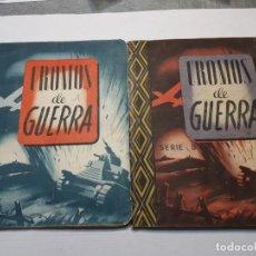 Coleccionismo Álbum: ALBUMES COMPLETO CROMOS DE GUERRA SERIE A Y B 1945 DIFICIL. Lote 191340910