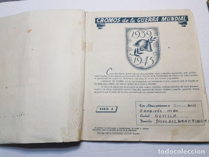 Coleccionismo Álbum: Albumes completo Cromos de Guerra Serie A y B 1945 dificil - Foto 2 - 191340910