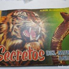 Coleccionismo Álbum: ALBUM DE CROMOS COMPLETO SECRETOS DEL MUNDO ANIMAL EDITORIAL ROLLAN 1958. Lote 191356313