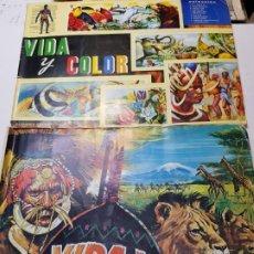 Coleccionismo Álbum: ÁLBUMES VIDA Y COLOR NÚMEROS 1 Y 3 COMPLETOS EDICIONES ALBUMES ESPAÑOLES 1965. Lote 191851913