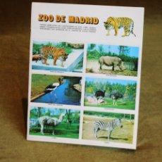 Coleccionismo Álbum: ÁLBUM DE CROMOS DEL ZOO DE MADRID,32 CROMOS,COMPLETO,EDITORIAL SUSAETA,1973.. Lote 192342528