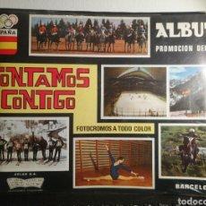 Coleccionismo Álbum: ALBUM DE CROMOS COMPLETO CONTAMOS CONTIGO AÑO 1968. Lote 192544998