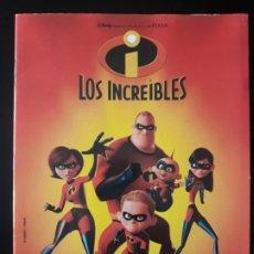 Coleccionismo Álbum: LOS INCREIBLES . PANINI 2005. COLECCIÓN COMPLETA . CROMOS PEGADOS. POSTER INCOMPLETO. Lote 192975925