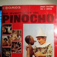 Collezionismo Álbum: ALBUM DE CROMOS COMPLETO LAS AVENTURAS DE PINOCHO. Lote 193726653