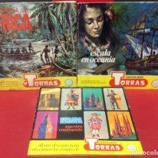 Collectionnisme Album: LOTE DE TRES ALBUMES DE CROMOS COMPLETOS DE CHOCOLATES TORRAS. Lote 193880346
