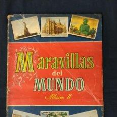 Coleccionismo Álbum: ALBUM DE CROMOS COMPLETO - MARAVILLAS DEL MUNDO - ALBUM II - BRUGUERA. Lote 194109551