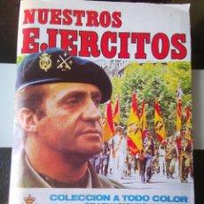 Coleccionismo Álbum: ÁLBUM CROMOS ED. RUÍZ ROMERO NUESTROS EJÉRCITOS COMPLETO. Lote 194171201