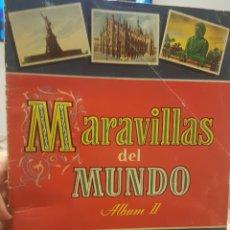 Coleccionismo Álbum: ALBUM MARAVILLAS DEL MUNDO COMPLETO. Lote 194214486