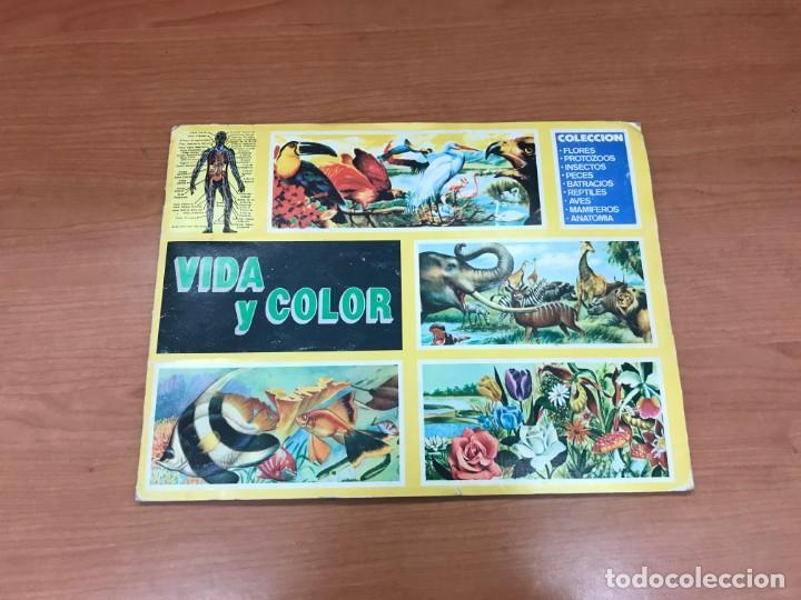 ALBÚM VIDA Y COLOR COMPLETO Y EN MUY BUEN ESTADO COMICROMO 1992 (Coleccionismo - Cromos y Álbumes - Álbumes Completos)
