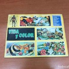Coleccionismo Álbum: ALBÚM VIDA Y COLOR COMPLETO Y EN MUY BUEN ESTADO COMICROMO 1992. Lote 194214971