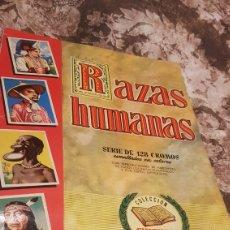 Coleccionismo Álbum: ALBUM COMPLETO RAZAS HUMANAS. Lote 194351618