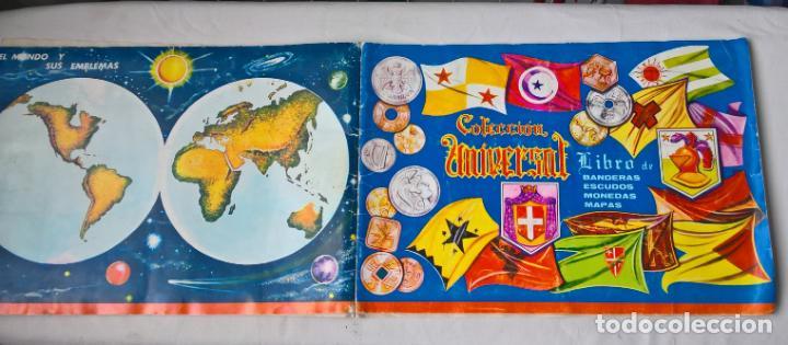 COLECCION UNIVERSAL LIBRO DE BANDERAS, ESCUDOS, MONEDAS Y MAPAS . COMPLETO (Coleccionismo - Cromos y Álbumes - Álbumes Completos)