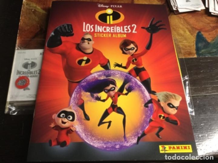 ALBUM LOS INCREÍBLES 2 - ALBUM PLANCHA NUEVO Y 192 CROMOS SIN PEGAR -LOTE 2 (Coleccionismo - Cromos y Álbumes - Álbumes Completos)