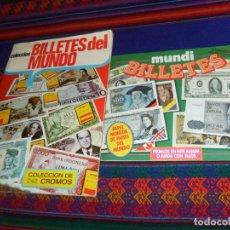 Coleccionismo Álbum: MUNDI BILLETES COMPLETO 80 CROMOS. ESTE AÑOS 80. REGALO BILLETES DEL MUNDO INCOMPLETO 1974. MBE.. Lote 194359515