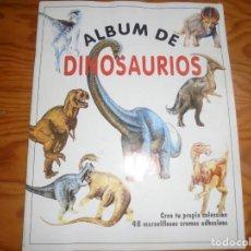 Collezionismo Álbum: ALBUM DE DINOSAURIOS. PLANETA DE AGOSTINI, 1992. COMPLETO ( LA MAYORIA DE LOS CROMOS SIN PONER). Lote 194374248