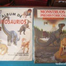 Coleccionismo Álbum: ALBUM DE DINOSAURIOS+ MONSTRUOS PREHISTORICOS. Lote 194388892
