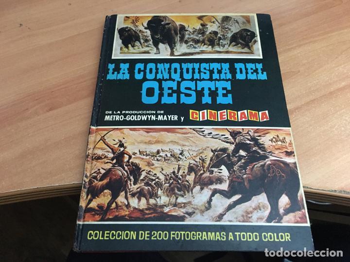 LA CONQUISTA DEL OESTE ALBUM COMPLETO BRUGUERA TAPA DURA 1963 (COIB59) (Coleccionismo - Cromos y Álbumes - Álbumes Completos)