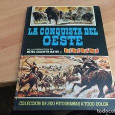 Coleccionismo Álbum: LA CONQUISTA DEL OESTE ALBUM COMPLETO BRUGUERA TAPA DURA 1963 (COIB59). Lote 194504620