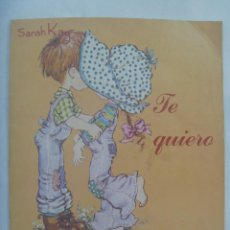 Coleccionismo Álbum: ALBUM DE CROMOS DE SARAH KAY : TE QUIERO . DE PANINI, 1980 ........ COMPLETO. Lote 194594820