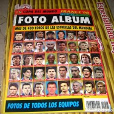 Coleccionismo Álbum: COPA DEL MUNDO FRANCIA 98 FOTO ALBUM PIEZA DE COLECCIONISTA MAS DE 400 FOTOS. Lote 194596413