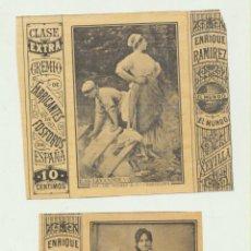 Coleccionismo Álbum: LOTE DE 2 CROMOS (6X5,5) DE CAJAS DE CERILLAS EL MUNDO. GREMIO DE FABRICANTES DE FÓSFOROS. ENRIQUE R. Lote 194681505