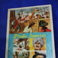 Coleccionismo Álbum: ALBUN PIRATAS FAMOSOS. DE LOS AÑOS 60. COMPLETO. Lote 194692513