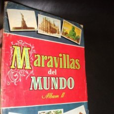 Coleccionismo Álbum: ALBUM DE CROMOS MARAVILLAS DEL MUNDO ALBUM II - BRUGUERA 1956 CROMO COMPLETO. Lote 194881523