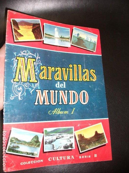 ALBUM DE CROMOS MARAVILLAS DEL MUNDO ALBUM I - BRUGUERA 1956 CROMO COMPLETO (Coleccionismo - Cromos y Álbumes - Álbumes Completos)